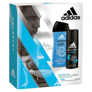 Adidas Men Zestaw After Sport 3w1 żel 250 ml + Fresh Cool and Dry antyperspirant 150 ml
