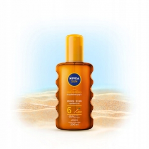 NIVEA SUN Olejek do opalania w sprayu SPF 6 200ml