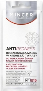 MINCER Pharma 1215 AntiRedness Regenerująca maska w kremie do twarzy saszetka 10ml