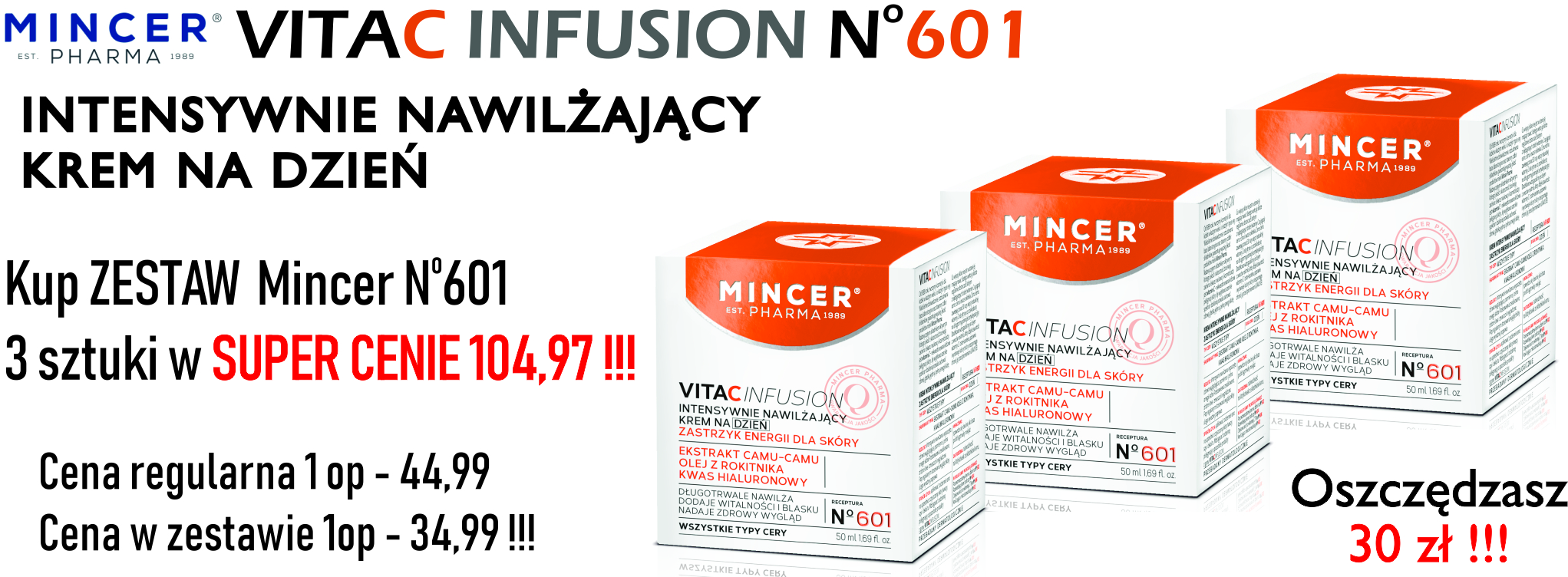 Mincer VitaC Infusion 601 Zestaw 3*50ml